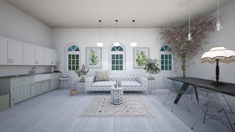 O_keefe inspired - Retro - Living room  - by evabarrett