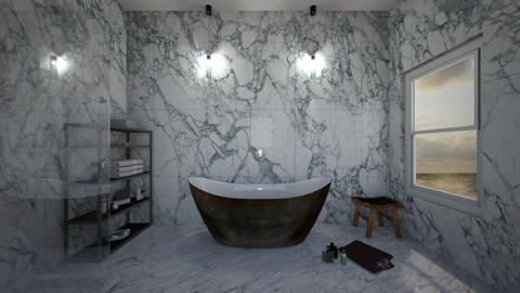 Bathroom Monochrome - Modern - Bathroom  - by Tea B Solvo