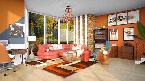A Touch of Brick - Living room  - by Feeny