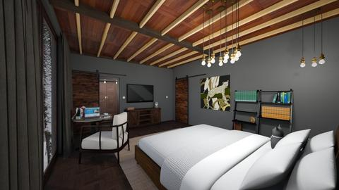 Luis Arellano 2 - Rustic - Bedroom  - by arellal20