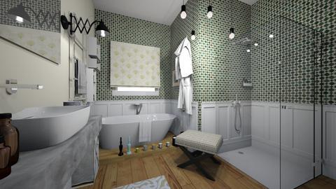 kiwi bath - Bathroom  - by bettamarchegiano