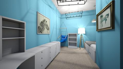 blue kids room - Kids room  - by M_L_A