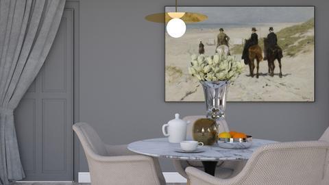 Grey and cream dining - Minimal - by HenkRetro1960