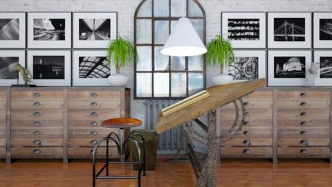 atelier in storm - Vintage - Office  - by russ