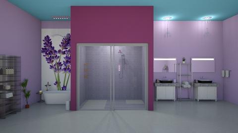 lavender bathroom - Bathroom  - by fullmoon13