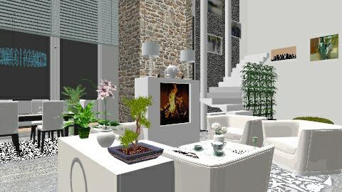 Winter - Living room - by richard ricardo