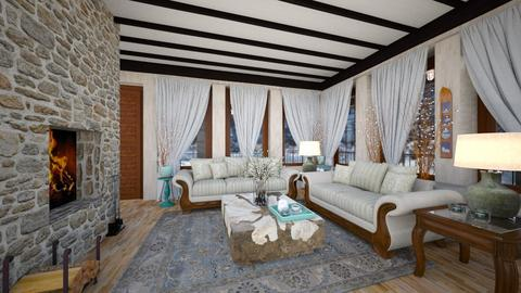 Vacation Cabin for Mom - Classic - Living room  - by Amyz625