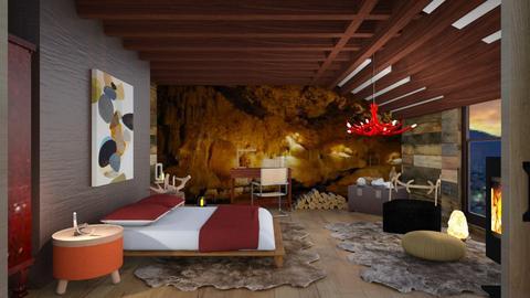 Attic bed outdoor - Rustic - Bedroom  - by augustmoon
