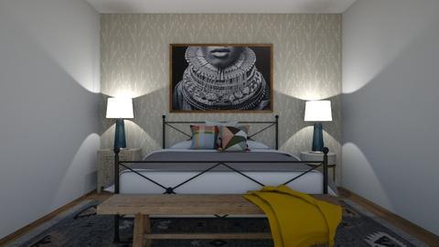 ADistinguishedFramedArtBr - Bedroom  - by raphaelfernandesdesign