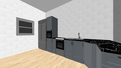 plan apartament - Kitchen  - by dinterior