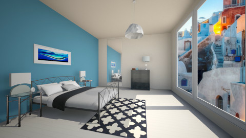 blue sea - Retro - Bedroom  - by franciss