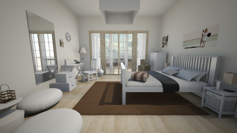 bedroom at a beach house - Country - Bedroom - by Anastasia Baier