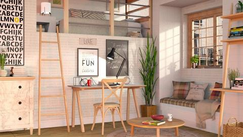 Student Dorm - Bedroom  - by Sally Simpson