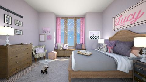 Pink and Purple - Bedroom  - by amyskouson