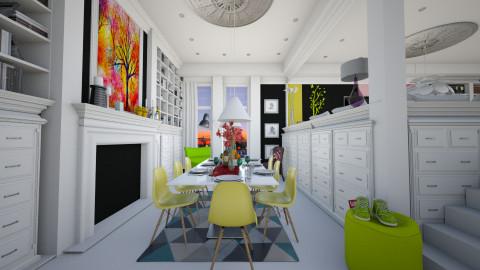 vibrant design ish - Classic - Dining room - by Evangeline_The_Unicorn