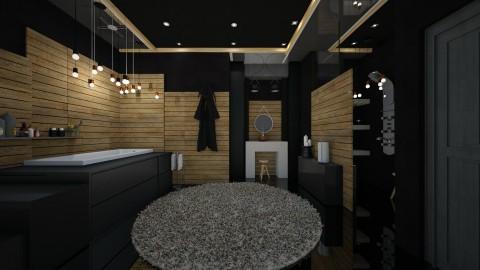 black ceiling - Modern - Bathroom  - by Evangeline_The_Unicorn