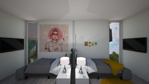 contrad dorm room - Bedroom  - by home peachome