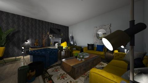 family living room - Eclectic - Living room  - by lkmuv