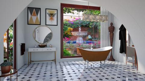 bathtub - Minimal - Bathroom  - by donella