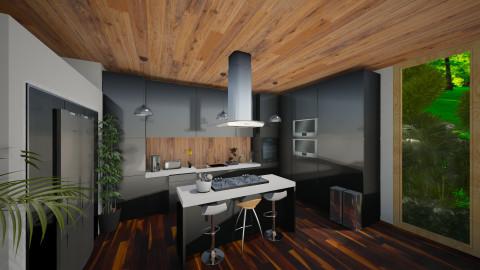 Black Gourmet  - Modern - Kitchen  - by shooshB