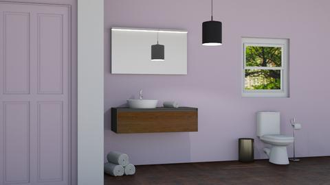 Lavender Restroom 2 - Modern - Bathroom  - by designcat31