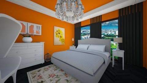 Orange dreams - Bedroom - by andreana_cekic