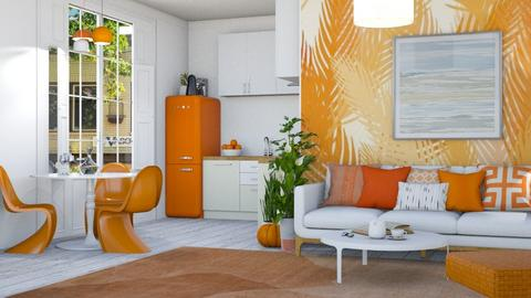Orange home - Living room  - by zozan