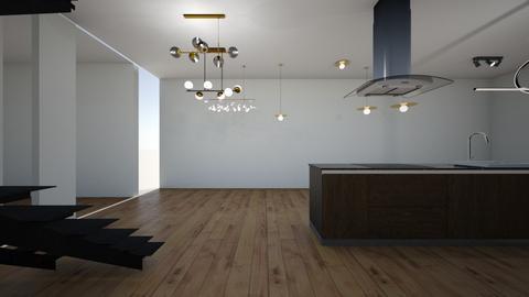 mansion - Kitchen  - by Architectdreams