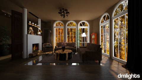 Wood - Country - Living room  - by DMLights-user-1466046