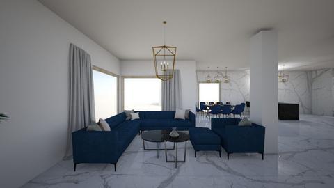 salon1 - Modern - Living room  - by Szelag