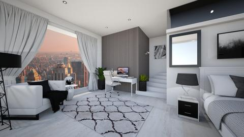 NYC bedroom with upster bathroom - Modern - Bedroom - by Mesehabbal