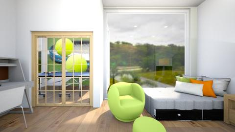 Tennis fan bedroom - Modern - Bedroom  - by Agamanta