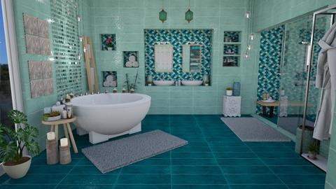 Turqoise Spa - Bathroom - by Nina Colin