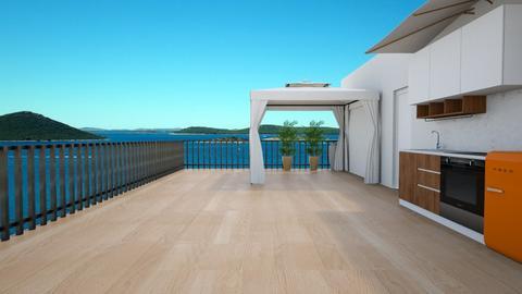 rooftop terrace - Garden  - by Moonpearl