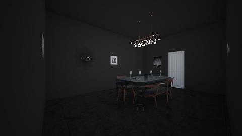Dark dining Room - Modern - Dining room - by Tigerstar101