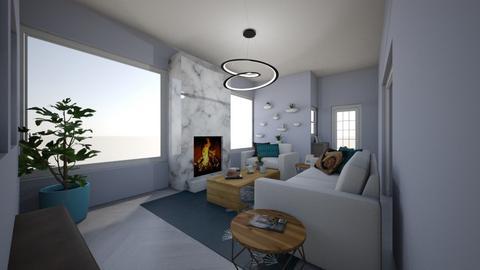 In the Blues Living Room - by ellarowe224