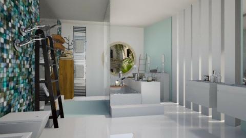 MintBathroom - Modern - Bathroom  - by StienAerts