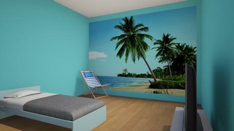 boys beach bedroom - Rustic - Bedroom  - by ellagore