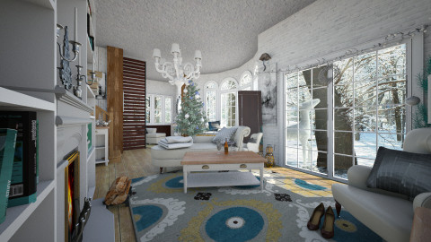 white winter snow - Glamour - Living room  - by donella