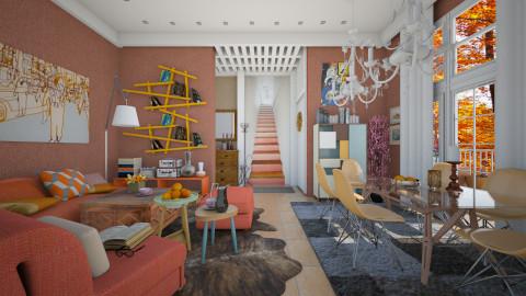 Vibrant colors  - Eclectic - Living room  - by Ida Dzanovic