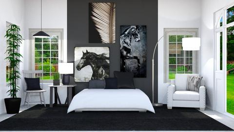 Black and White - by Horse_Lover_Mel