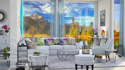 big window living room - Living room  - by Moonpearl