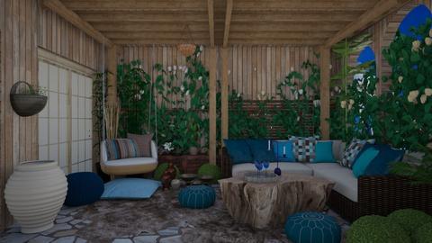 Pergola Blue - Garden  - by lpkinteriordesigns