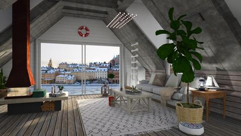 Boathouse - Living room - by jjannnii
