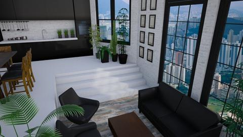 Multi levelled apartment - Living room - by Keliann