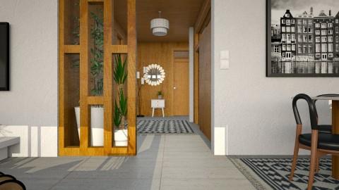 MCM Apt_Hallway - Retro - by evahassing