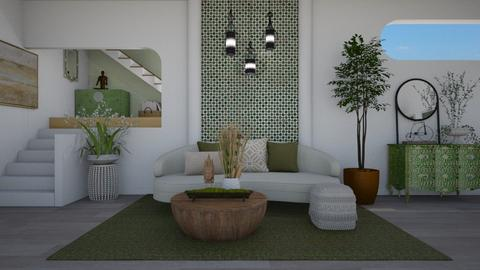 Olive accents II - Living room  - by Nicky West