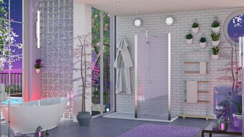 Lavender Bathroom - Modern - Bathroom  - by Slavicdoll