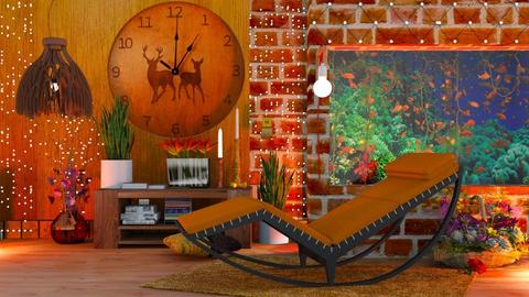 aquarium - Living room - by HebaAdil10