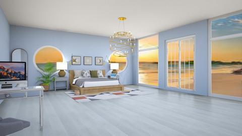 minimalist beach bedroom3 - Modern - Bedroom  - by quesal0l2347
